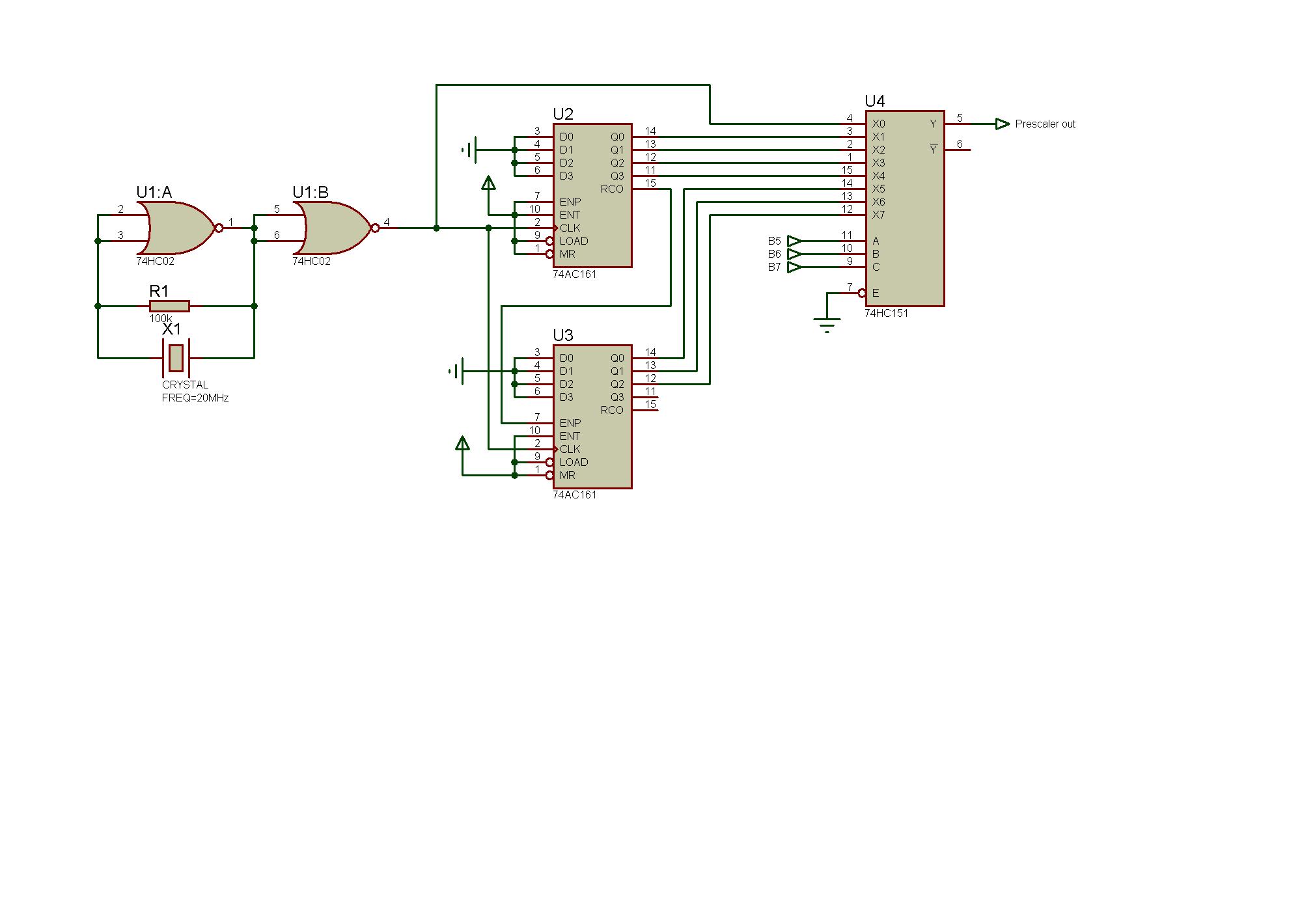 Схема включения кварцевого резонатора