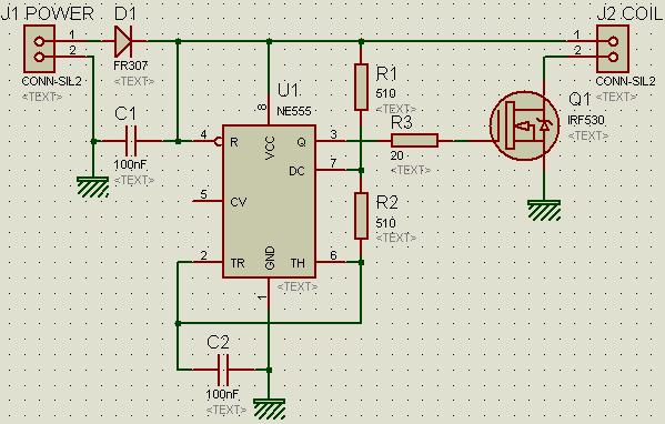 Первичную обмотку вращающегося трансформатора можно запитать от однотактного генератора по следующей схеме.